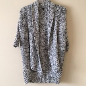 Express Gray Knit Wrap around Cardigan